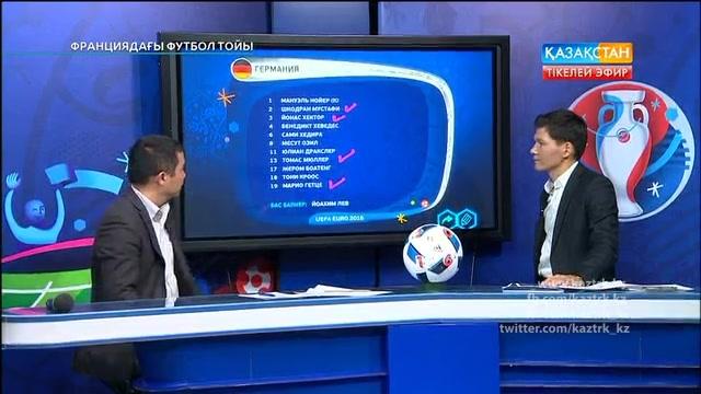 ФУТБОЛ. UEFA EURO 2016. «ФРАНЦИЯДАҒЫ ФУТБОЛ ТОЙЫ». ТІКЕЛЕЙ ЭФИР. 12.06.2016. 00:30
