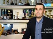 Медаль, кубок жасап шығарады, спортшылардың бренд киімдерін тігетін кәсіпорын басшысы Ринат Кутдусов