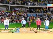 Рио Олимпиадасының қола медалінің иегері, қазақстандық дзюдошы Отгонцэцэг Галбадрахты марапаттау рәсімі