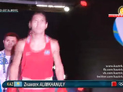 Боксшы Жәнібек Әлімханұлы Олимпиаданың ширек финалына шықты