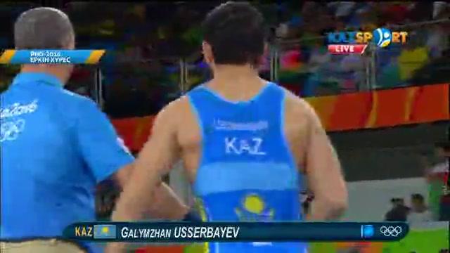 Қазақстандық палуан Ғалымжан Өсербаев жартылай финалға өтті