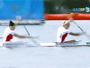 Олимпиаданың В финалында 500 метрге жүзуден қазақстандық ескекшілер екінші келді