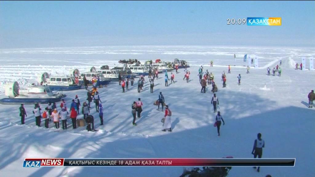 Байкал көлінде қысқы марафон өтті
