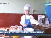Оңтүстік Қазақстан облысындағы кондитер цехы жылына 200 тонна өнім шығарады