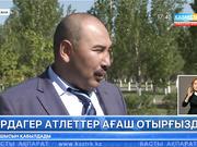 Астанада ардагер атлеттер ағаш отырғызды