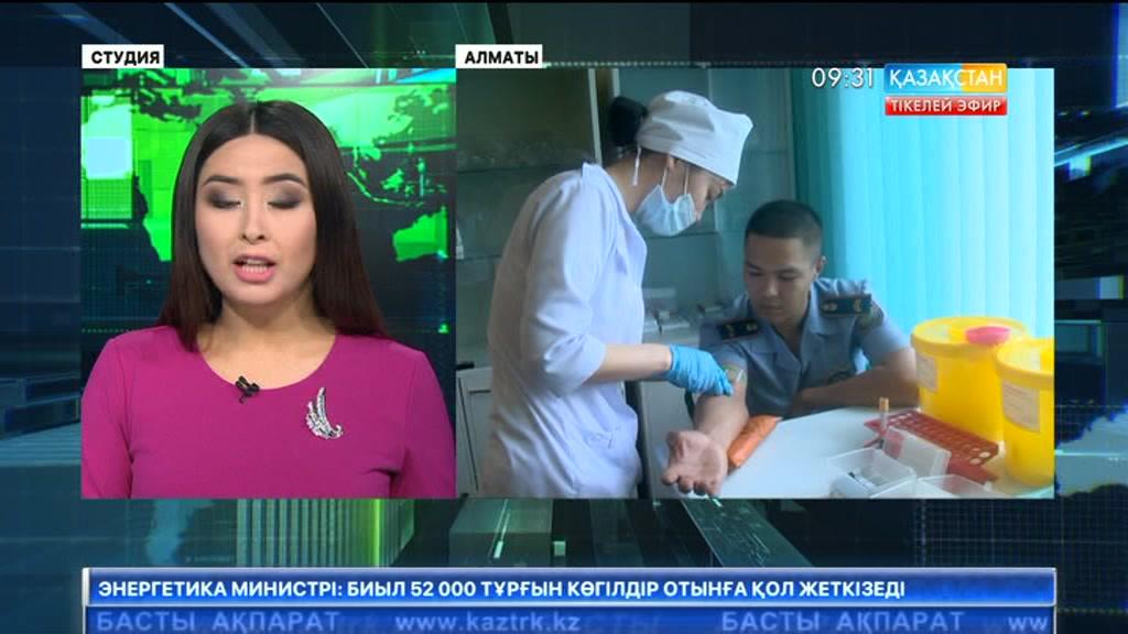 Алматылық полицейлер балалар үшін қан тапсырды