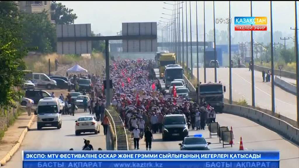 Түркияда оппозиция маршы өтті