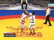 Айбек Нұғымаров «Әскер барысының» күміс жүлдегері Олжас Шынкеевті айқын басымдықпен ұтты