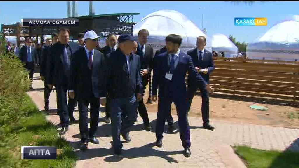 Елбасы Астана маңындағы жасыл белдеуге барды