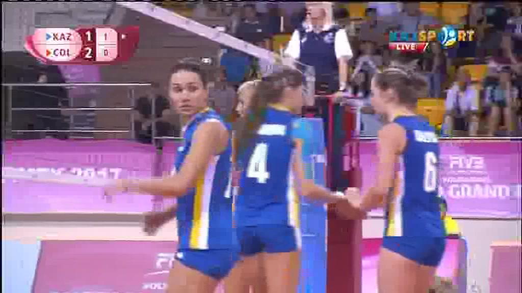 Волейбол. Этап Мирового Гран-при (Алматы). Казахстан - Колумбия