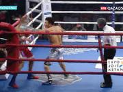Нұрсұлтан Жаңабаев қарсыласын алғашқы раундта-ақ нокаутқа жіберді