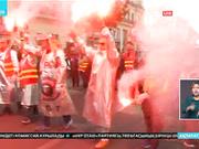 Францияда президент Эммануэль Макронның еңбек реформасына қарсы ауқымды шеру өтті