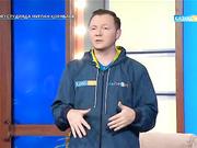 "Павел Цыбулин - ""KAZsport"" телеарнасының директоры, Индира Бектенова - тележүргізуші, ""KAZsport"" телеарнасының  бас редакторы"