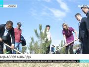 Алматыдағы Тұңғыш Президент саябағында жаңа аллея ашылды