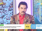 Қырғыз Республикасының суретшісі Бұзұрманқұл Мырзалиев «Таңшолпан» студиясында қонақта