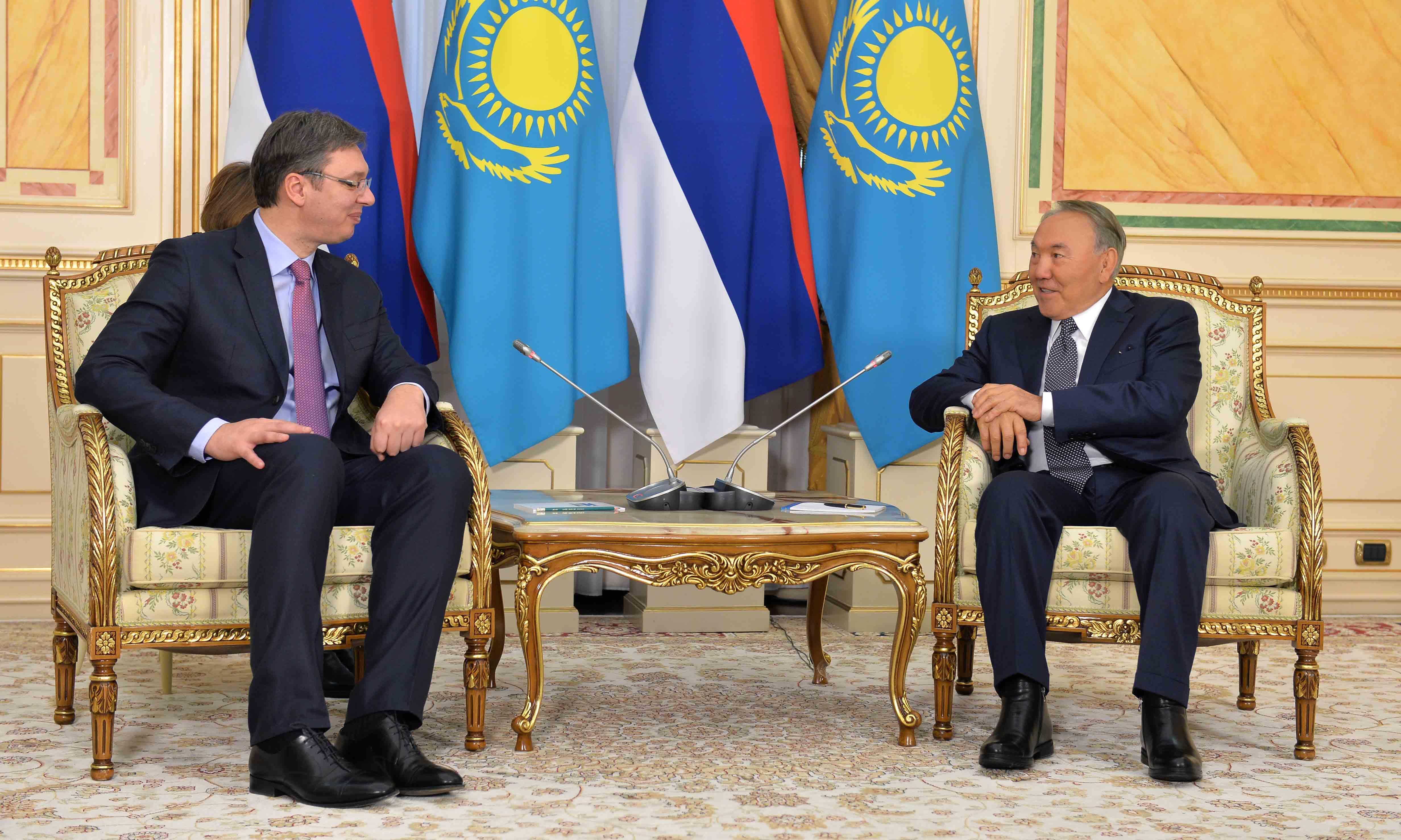 Елбасы Сербия Республикасының Премьер-Министрі Александр Вучичпен кездесті