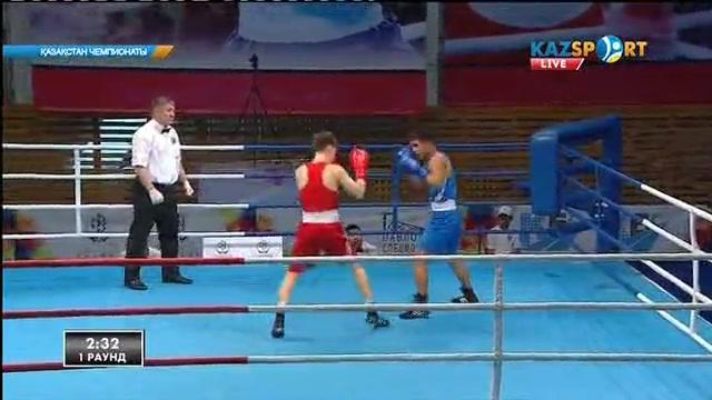 Бокстан Қазақстан чемпионаты: Ерболат Ермеков (64 кг) қарсыласын техникалық нокаутпен жеңді