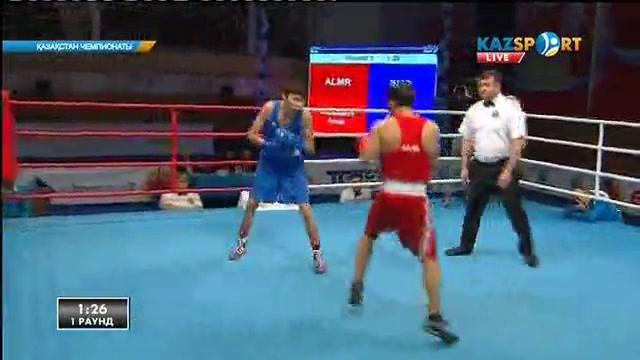 Бокстан Қазақстан чемпионаты: Әнуар Мұзапаров (52 кг) алғашқы айналымда жеңіске жетті
