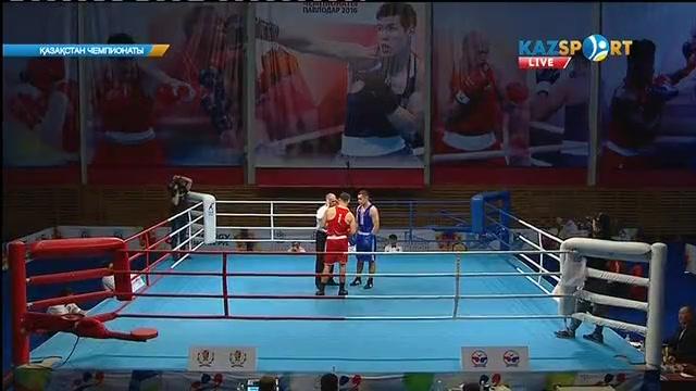 Бокстан Қазақстан чемпионаты: Арман Рысбек (81 кг) қарсыласын айқын басымдылықпен ұтты