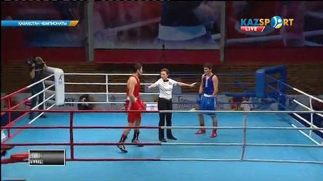 Бокстан Қазақстан чемпионаты: Нұрбол Алтаев (81 кг) қарсыласын айқын басымдылықпен жеңді