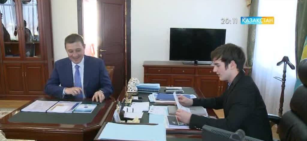 Қарағандылық студент Юрий Михуля қала әкімінің жұмысын атқарып көрді