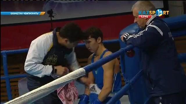 Бокстан Қазақстан чемпионаты: 18 жастағы Серік Теміржанов (60 кг) жартылай финалға шықты