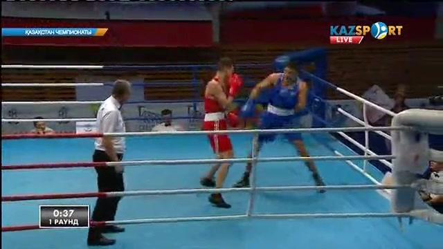 Екі Жәнібектің айқасында Әлімханның ұлы мықты болып шықты. Бокстан Қазақстан чемпионаты. 81 кг