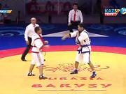 Еуразия Барысы - 2016: Мұхит Тұрсынов (100 кг) қарсыласын жеңді
