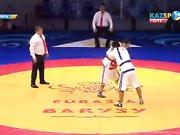 Еуразия Барысы - 2016: Ерсұлтан Мұзапаров (82 кг) грузиялық қарсыласы Заур Гагнидзеге есе жіберді (ВИДЕО)