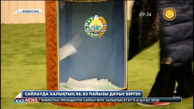 Сайлауда өзбекстандықтардың 87,83 пайызы дауыс берген