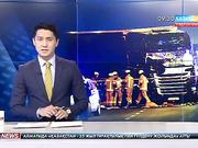 Германияда 40 тонналық жүк көлігі бір топ адамды басып жаншыған