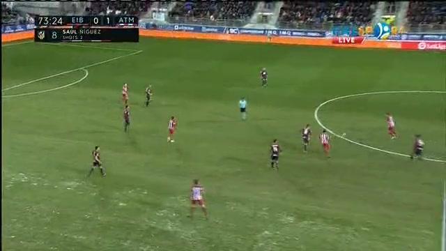 «Эйбар» - «Атлетико»: Антуан Гризманның голы - 0:2