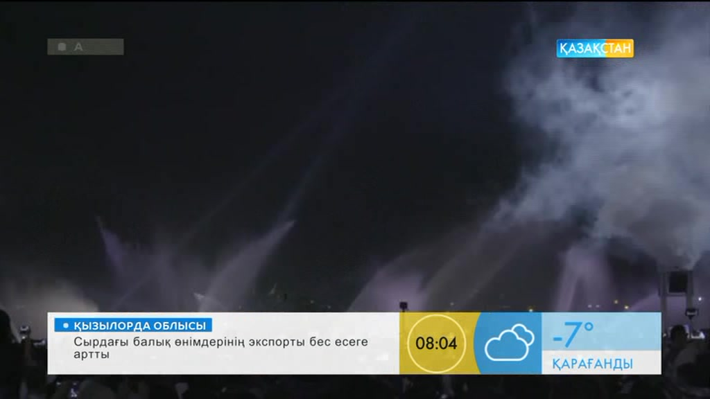 Дубайда су экранда мультимедиялық көрініс көрсетілді