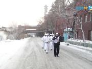 Эстафета огня в Карагандинской области