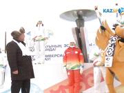 Эстафета огня в Акмолинской области