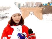 Эстафета огня в Павлодарской области