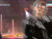 Димаш Құдайбергенов пен опера әншісі Зарина Алтынбаеваның Универсиаданың ашылуында орындаған әні