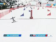 Дарья Слободкинаның биіктіктен түсуі. Универсиада - 2017. Сноуборд. Параллельді үлкен слалом