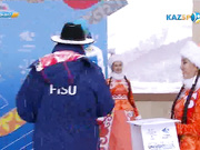 Екатерина Айдова қола медальмен марапаттау рәсімі