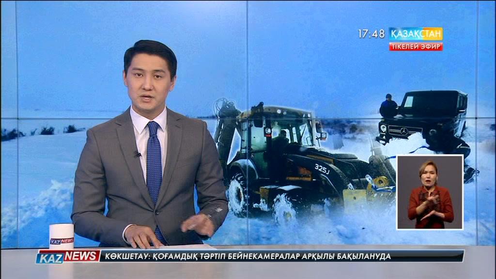 «Қызылорда-Павлодар-Успенка» тасжолы бойында қар құрсауында қалған жолаушылар  құтқарылды